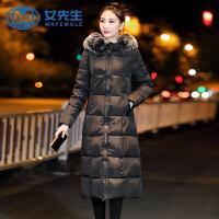 【极速发货 超低价格】冬季棉袄女2020新款韩版保暖大毛领加厚羽绒棉服长款过膝棉衣外套
