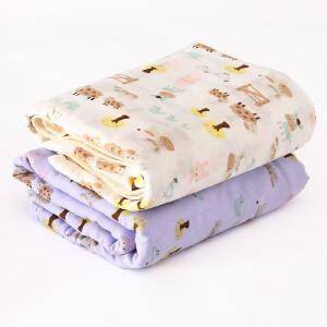 春夏婴儿浴巾纯棉超柔加大加厚新生儿宝宝6层纱布浴巾毛巾被