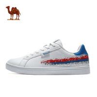 春季 骆驼运动鞋男款时尚板鞋缓震透气休闲鞋系带百搭滑板鞋