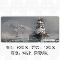军迷二战现代武器装备战舰战机坦克世界游戏周边桌垫鼠标垫加厚 900x400mm 5mm
