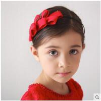 日韩时尚花朵头箍花童配饰女童公主头饰发饰发夹头花发箍红色