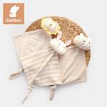 威尔贝鲁(WELLBER)婴儿安抚巾宝宝新生儿可入口玩偶毛绒安抚玩具0-1岁手帕