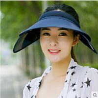 帽子女鸭舌帽 大沿檐帽潮遮阳帽防晒防紫外线遮脸沙滩太阳帽