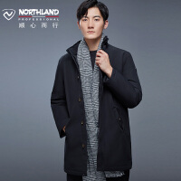 【品牌特惠】NORTHLAND诺诗兰GORE-TEX羽绒服男中长款户外加厚鹅绒GD075619