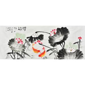 当代花鸟画家孔江林180 X 70CM花鸟画gh02361