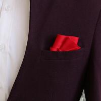 直插式男士口袋巾礼服配饰西装婚庆领带配套领结方巾手帕胸巾 红色 Q10-02