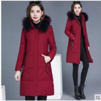 冬季新款中长款加厚保暖大毛领棉衣棉袄外套派克羽绒棉服女