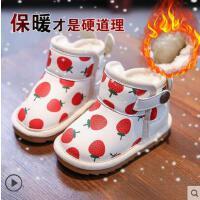 小童女童儿童女宝宝防水加绒公主宝宝过年鞋子女婴儿冬女宝雪地靴