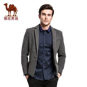 骆驼男装 外套男士便西商务休闲修身小西装青年西服