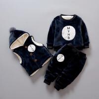 冬装男童女童小孩儿童宝宝卫衣三件套