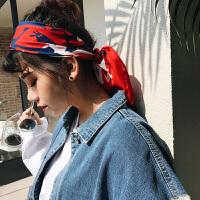 小方巾丝巾女颈鹿小领巾装饰商务空姐