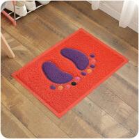 门脚垫厨房客厅防滑垫门垫家用卧室门厅垫子丝圈彩色脚丫垫