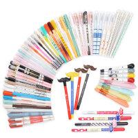 小清新可爱笔卡通学生黑色练字水笔文具批发40支装中性笔