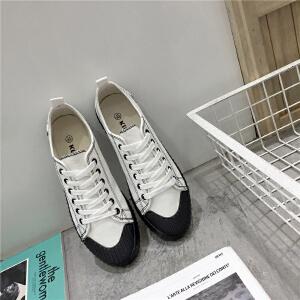 帆布鞋男新款韩版懒人港风小白鞋板鞋青少年ulzzang布鞋透气