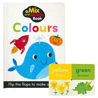 【首页抢券300-100】A Mix and Match Book Colours 色块匹配翻翻书 幼儿颜色认知 撕不烂