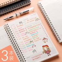 每日计划表日程计划本学生学习时间管理本规划100天效率手册行程随身考研自律打卡日记日历本记事本2019月周