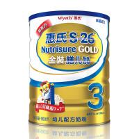 【当当自营】惠氏 S-26 金装膳儿加 900g 罐装 新配方(惠氏3段)