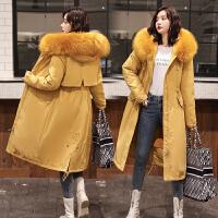 【拒绝套路,底价包邮】2019新款韩版双面穿羽绒棉衣女冬季中长款棉袄棉服外套潮女装