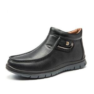 Camel Active/骆驼动感皮靴冬季男鞋头层牛皮男靴棉鞋棉靴皮鞋