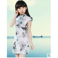 儿童旗袍女童复古唐装中国风古典小女孩古筝演出儿童服装支持礼品卡支付