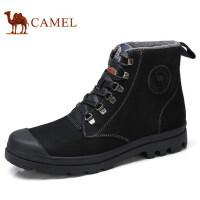 camel 骆驼男鞋 秋季新品英伦复古风柔韧磨砂牛皮高帮马丁靴
