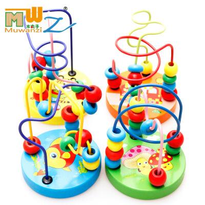 木丸子 迷你串珠 益智木制玩具智力小绕珠 串串珠积木 儿童益智玩