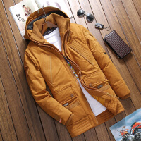 中年秋冬保暖羽绒服男式短款修身加厚商务羽绒衣外套舒适防寒冬装