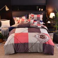 磨毛四件套活性印花全棉床单被套四件套床上用品
