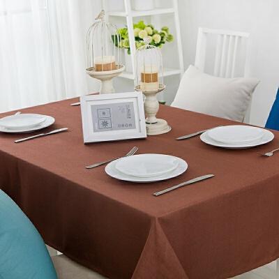 铭聚布艺桌布茶几餐桌布简约现代长方形台布定制棉麻风