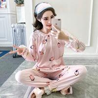2018新款睡衣女秋冬纯棉长袖女士春秋季甜美可爱兔子韩版公主风家居服套装