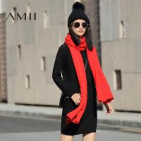 【双十一特价福利款】AMII[极简主义]冬新大码通勤宽松拼接针织立体连衣裙