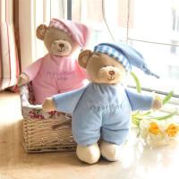 M儿童婴儿安抚玩具宝宝安睡毛绒玩偶小熊公仔睡觉小熊