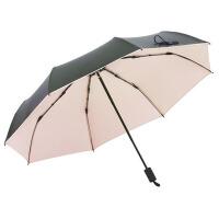 户外黑胶防晒遮阳伞太阳伞伞折叠两用晴雨伞女