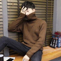 高领毛衣男韩版秋冬季2018新款加绒加厚潮修身线衣男士打底针织衫