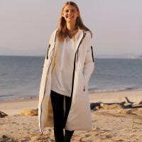【券后价:558元】Amii极简欧货潮时尚90白鸭绒羽绒服女2019冬新款宽松连帽拉链外套