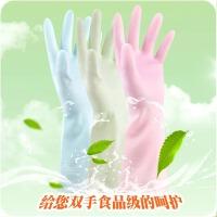 懿聚堂 厨房茶树油橡乳胶皮薄款洗碗洗衣清洁耐用家务手套防水