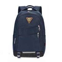 新仕高书包 初中学生双肩包 0046休闲包 黑色/深蓝旅行包 背包