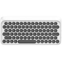 洛斐 蓝牙机械键盘 DOT圆点苹果Mac电脑办公笔记本iPad手机无线青轴键盘 白色