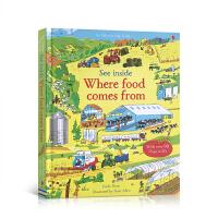 英文原版看里面系列See Inside Where Food Comes from食物从哪里来粮食科普儿童英语早教书翻