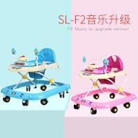 多功能学行助步车可折叠带音乐 婴儿童学步车 6/7-18个月宝宝防侧翻学步车
