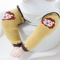 新生婴儿袜套秋冬季纯棉保暖过膝护腿男女宝宝长筒袜爬行