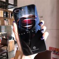 队长超人手机壳iPhone6Splus钢化玻璃7P套苹果X代8P硬 6P/6SP 超人玻璃壳