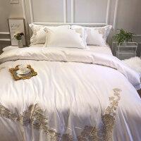 冰丝床上四件套欧式北欧风全棉纯棉天丝被套床笠裸睡亲肤