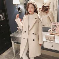 韩版毛呢大衣女外套学生矮个子秋冬款呢子大衣女中长款