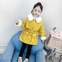 女童外套秋冬中大童秋装儿童中长款大衣