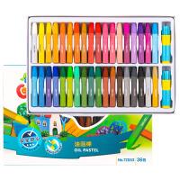 油画棒36色48色儿童彩色腊笔套装安全可水洗幼儿油画笔12色24色幼儿园炫彩棒彩绘棒涂鸦宝宝画画笔