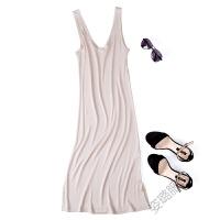 V领夏季针织长裙吊带裙背心打底裙睡裙衬裙大码加长款睡裙
