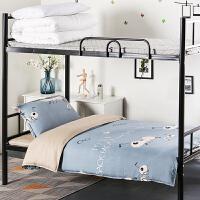 ins水洗棉学生宿舍单人床三件套被褥套装六件套上下铺床单被罩