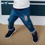 【尾品汇清仓】迷你巴拉巴拉男童破洞牛仔裤2018秋季新款童装裤子宝宝儿童长裤