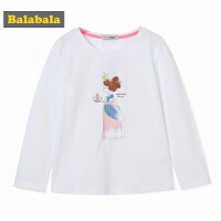 巴拉巴拉童装女童T恤长袖中大童儿童秋装2017新款打底衫套头衫潮